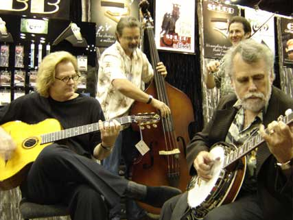 That's me sitting in with John's quintet at the summer NAMM show.